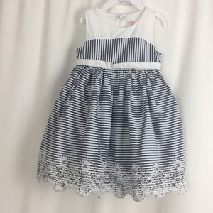 Gymboree Blue & White Dress